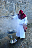 Hornilla de incienso grande, semana santa en Baeza, provincia de Jaén, Andalucía, España Imágenes de archivo libres de regalías