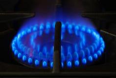 Hornilla de la estufa de gas Imágenes de archivo libres de regalías