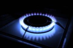 Hornilla de la estufa de gas Fotos de archivo libres de regalías