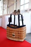 Hornilla y cesta para el vuelo de aerostación imagen de archivo libre de regalías