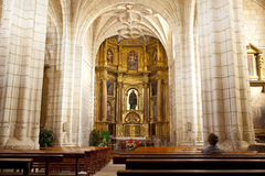 Hornillos del Camino,西班牙教会  免版税库存照片