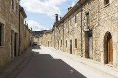 Hornillos del Camino street village, Burgos, Santiago de compostela Royalty Free Stock Images