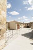 Hornillos del Camino street village, Burgos, Santiago de compostela Royalty Free Stock Image