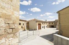 Hornillos del Camino street village, Burgos, Santiago de compostela Stock Images