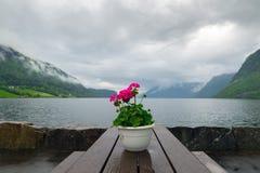 Hornindalsvatnet Stock Photography