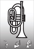 Horninstrument Royaltyfri Bild