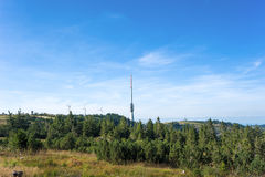 Hornisgrinde with telecommunications tower of german Telekom Royalty Free Stock Images
