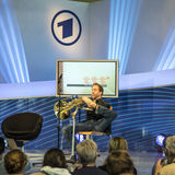 Hornist Felix Klieser alla fiera del libro 2014 di Francoforte Fotografia Stock