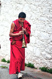 Hornist Monk Stock Photography