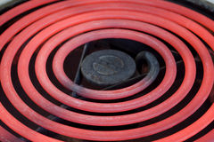 Horno caliente del rango eléctrico que brilla intensamente Fotos de archivo libres de regalías