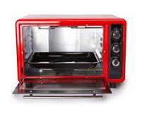 Horno del rojo de la cocina fotos de archivo libres de regalías