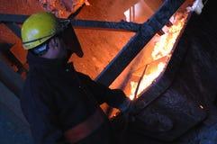 Horno en planta metalúrgica Imagen de archivo