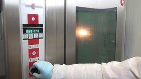 Horno industrial en la fábrica almacen de video