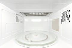 Horno microondas interior - visión frontal Imagenes de archivo