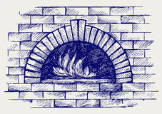Horno para cocinar stock de ilustración