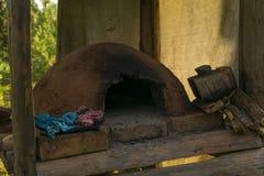 Horno primitivo del adobe Fotografía de archivo