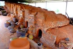 Horno rojo de la cerámica Foto de archivo libre de regalías