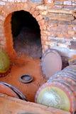 Horno rojo de la cerámica Fotografía de archivo