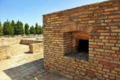 Horno viejo del pan, sitio arqueológico de la ciudad romana de Italica, Andalucía, España Foto de archivo libre de regalías