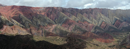 The Hornocal massive near Humahuaca on argentina a. Nde Royalty Free Stock Images