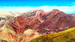 Hornocal : Montagne de couleurs - Montaña de Colores Photo stock