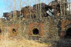 Hornos de coque abandonados de la colmena Fotografía de archivo libre de regalías