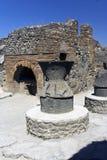 Hornos de la cocina de Pompeii Fotografía de archivo