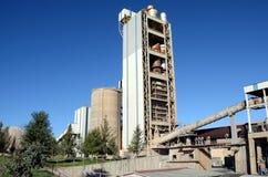 Hornos de la fábrica del cemento Imágenes de archivo libres de regalías