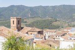 Hornos de Segura, Jaen, Spanien Arkivbild