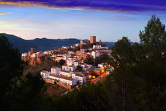 Hornos de Segura in sunset.  Andalusia, Spain Royalty Free Stock Photo