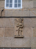 Hornpipe player bas-relief Royalty Free Stock Images