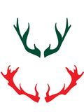 Horns of the deers. Deer horns are good idea for designing christmas artworks Royalty Free Stock Photo