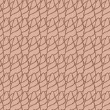 Horns doodle pattern . Royalty Free Stock Image