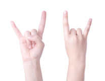 Horns hand sign Royalty Free Stock Photo