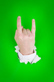 Horns hand sign Stock Photo