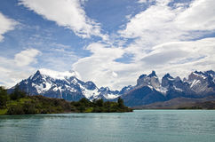 The Horns of Paine in Torres Del Paine National Park, Patagonia Stock Image