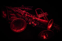 Horns in Red Stock Photo