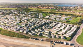 Hornsea Caravan Park and Mere royalty free stock images