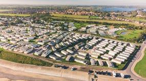 Hornsea-Wohnwagen-Park und bloßes lizenzfreie stockbilder