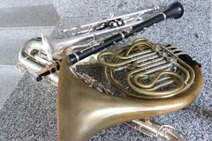 hornsection instrument muzyczny części saksofon obraz royalty free