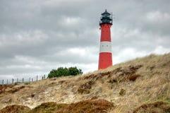 Hornum灯塔在海岛叙尔特岛上的 库存图片