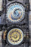 The Horologe. Old astronomical clock in Prague, Czech Republic (The Horologe Stock Photography