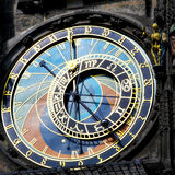 The Horologe. Old astronomical clock in Prague, Czech Republic (The Horologe Royalty Free Stock Photo