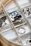 Horologists supplies for watch and clock repairs Stock Photography