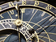 Horology. Detail view of horology, Prague, Czech Republic Royalty Free Stock Photography