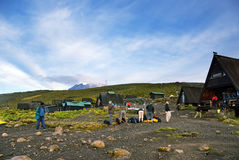 Horombo huts, Kilimanjaro Royalty Free Stock Photography