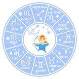 Horoscop σημάδι-01 διανυσματική απεικόνιση