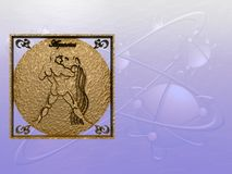 horoscope водолея иллюстрация вектора