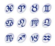 horoscope подписывает символы Стоковая Фотография