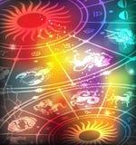 horoscope предпосылки иллюстрация вектора